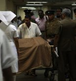 AP Photo: Journalist and media activist Poddala Jayantha lies in Colombo National Hospital after being abducted and assaulted by unidentified assailants June 1, 2009. He is the latest in a string of journalists who have faced violence on the Indian Ocean island, which just finished a 25-year war against the Tamil Tiger rebels. Colombo, Sri Lanka.