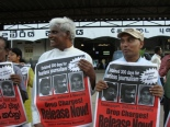 Campaign for the release of Tissa, Jasiharan and Valarmathi in Colombo 01january 09
