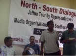 FMM secratary Sunil Jayasekara addressing Jaffna journalists