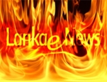 lanka e news set on fire