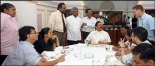 President Rajapaksa meets foreign media journalsits at Temple Trees (photo: Chandana Perera)